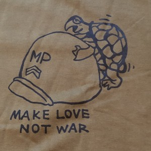 Vietnam War Printed S/S Tee Shirt, Make Love