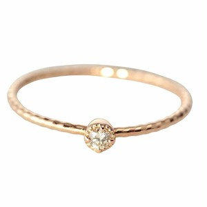 K10YG1粒ダイヤモンドのリング