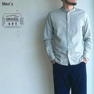 【ラスト1点】 ORGUEIL  バンドカラーシャツ Band Collar Shirt OR-5016A 【Men's】