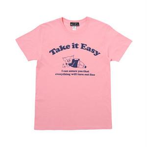 インディーズデザインTシャツ「Take it Easy」 メンズメッセージTシャツ