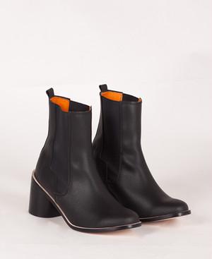 Deux Souliers - Chelsea Plain Heel #1 Black サイドゴア・チャンキーヒール・ショートブーツ (ブラック) 【スペイン】【靴】【シューズ】【インポート】【VOGUE】