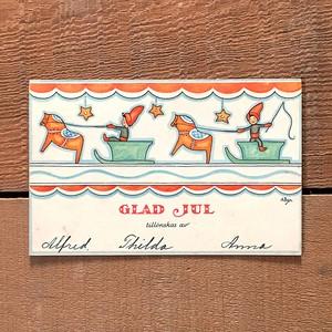 クリスマスカード「Annie Bergman(アンニ・ベリィマン)」《201206-01》