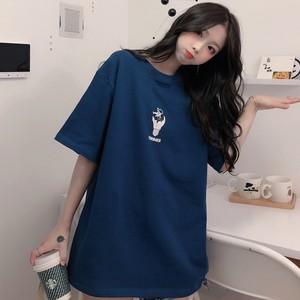 【トップス】韓国風ins快適なbf学生ゆったりカジュアルTシャツ