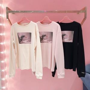 tulip print long t-shirt
