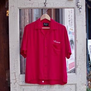 1950-60s King Louie TEN STRIKE Rayon Bowling Shirt /  フリーメイソン シュライナー レーヨン ボウリング シャツ