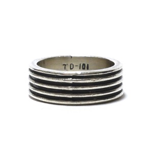 Vintage Sterling Silver Mexican Four Line Ring