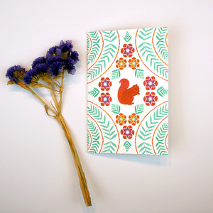 A6 Notebook - Squirrel Twirl