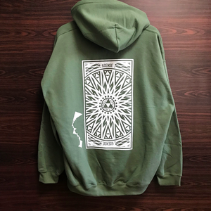【6SENSE】 Reprint / Hoodie -Triangle-(MILITARY GREEN , WHITE)