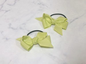 medium hair bow【lime yellow】