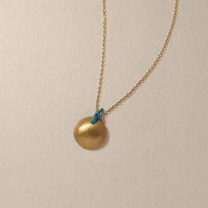 18金ゴールドネックレス:ラージBlue