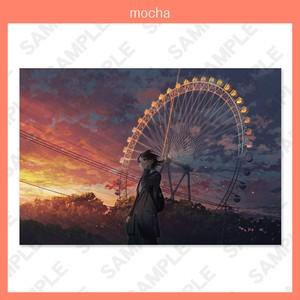mocha 個人画集発売記念原画展ポストカード 想い出は廻る