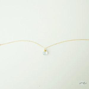 Blue Chalcedony Anklet/14KGF