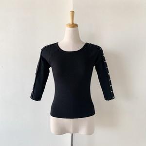 Double Standard Clothing Sov.×akko3839 ボタンアレンジニットプルオーバー 0509-450-203