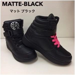CHEER MATTE-BLACK ハイカットスニーカー