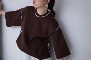 jonnlynx / knit tracksuit tee (brown)