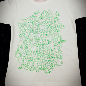 CJ SEDS T white×limegreen