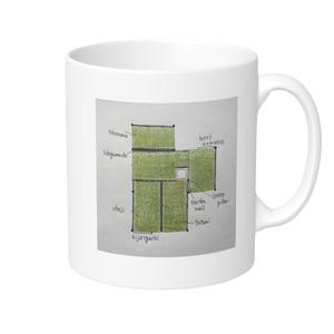 【送料込み】三畳台目茶室 マグカップ(片面柄)