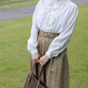 USA VINTAGE FRILL BLOUSE/アメリカ古着フリルブラウス