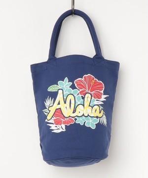 【kahiko/カヒコ】ケツ型ハワイアントートバッグ ブルーアロハ