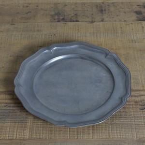Pewter Plate / ピューター プレート〈お皿・トレイ・器・花リム〉 112130