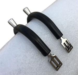 乗馬 馬術 拍車セット 拍車ベルト付き ラバー付き