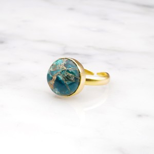 SINGLE BIG STONE RING GOLD 142
