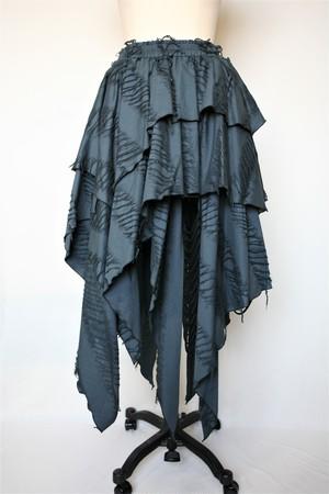 126A506C-B色 アシメトリーフレアースカート
