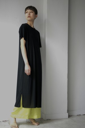 UNDECORATED / SHEER COTTON DRESS (black)