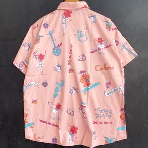 イロカライフオリジナルコミカルうちなー(沖縄)柄のアロハシャツ