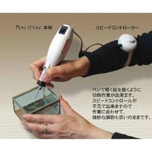 ガラスアート用電動ルーター&充実ビットセット「パワーリューター」