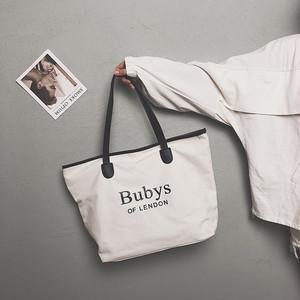 【小物】アルファベットシンプルファッションカジュアルビッグ帆布肩掛けバッグ