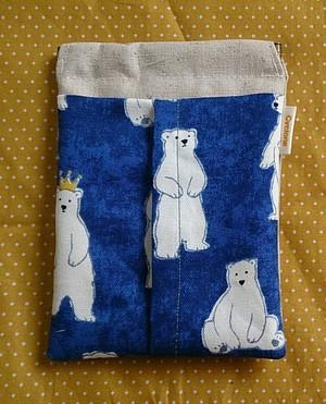 ゴミ箱付ティッシュケース 白熊