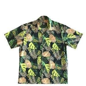 Mountain 半袖オープンアロハシャツ / New Monstera  /  Forest green