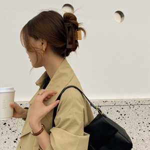 coffee color hair clip(2TYPE)