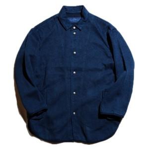 PC KENDO SHIRT JACKET W/SILVER BUTTONS(BLUE)[PC-001-1421]