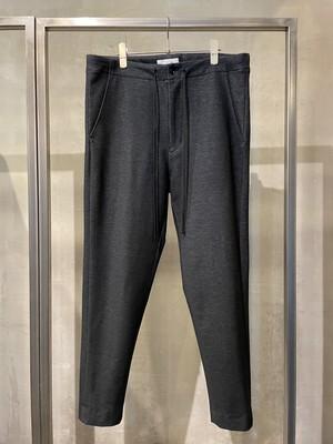 T/f G3 knit denim narrow tapered pants - combined black