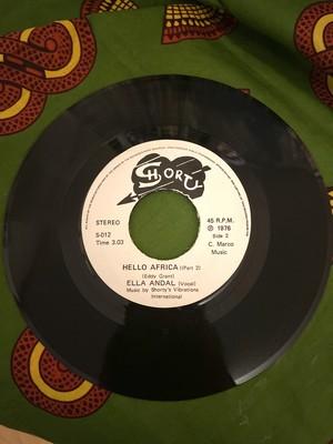 """<ディスコ ・カリプソ  7""""EP> Hello Africa / Ella Andall (1976)"""