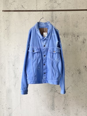 piece dyeing big denim jacket