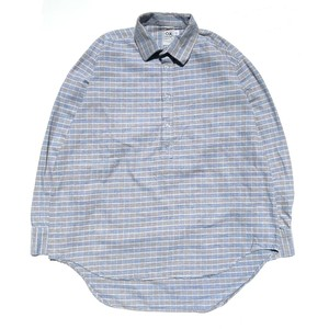 USED Half buttoned work shirts - blue,gray