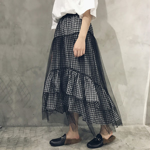 ♡plaid fril lace skirts 2442
