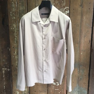 【08sircus】R/Co poplin open collar shirt