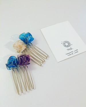 涼しげ花の髪飾り(ミニサイズ)