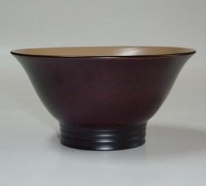 欅 羽反飯椀 黒波紋