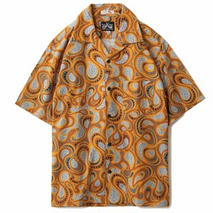DRESS HIPPY(ドレスヒッピー)/OLD PAISLEY S/S USA SHIRT (ORANGE)