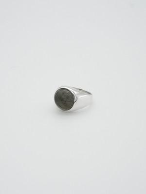labradorite gem wide ring(再入荷)