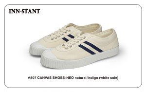 #807 CANVAS SHOES-NEO natural/indigo(white sole) INN-STANT インスタント 【税込・送料無料】