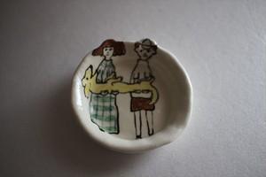 室井雑貨屋(室井夏実)|豆皿 ボクとワタシとダックス