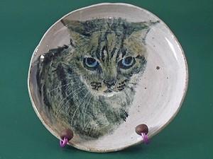 猫の絵皿*ものくろねこ
