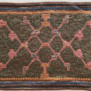 刺繍のカフェマット11 刺子風 南米シピボ族の手刺繍