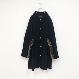 MIX CORDUROY COAT(BLACK)